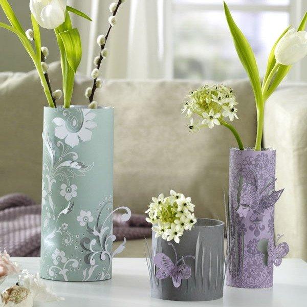 Обновляем вазу своими руками