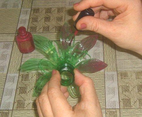 Поделки своими руками из пластиковых бутылок цветок