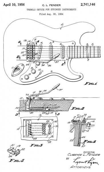 Фендер подал патентную