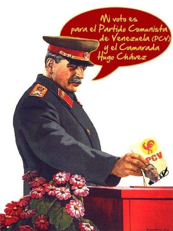 Сталин голосует за Чавеса