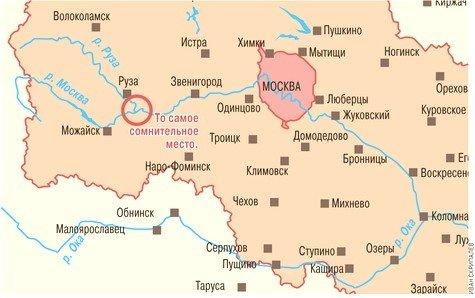 с названиями рек на карте?