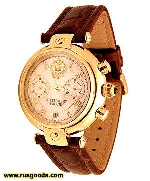 Золотые механические часы Президент