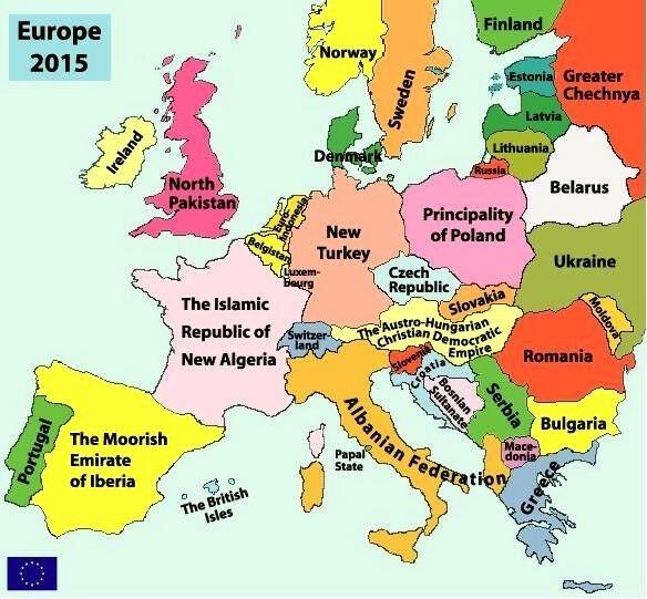 Alternativnaya Karta Evropy 2015 Goda A Gershanik Eksperimenty