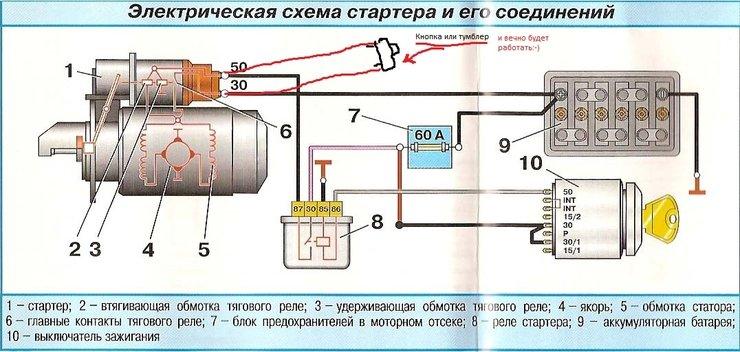схема стартера - Схемы.