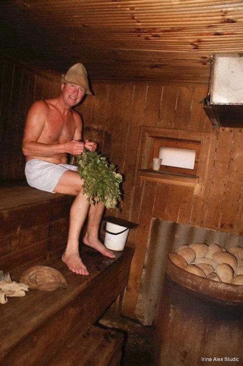 деревенская баня видео