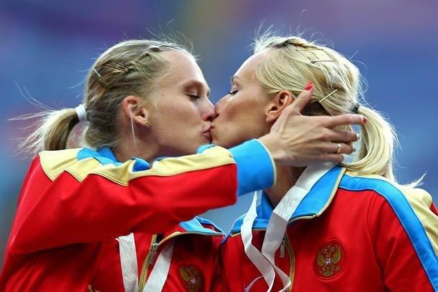 Российские спортсменки в ню