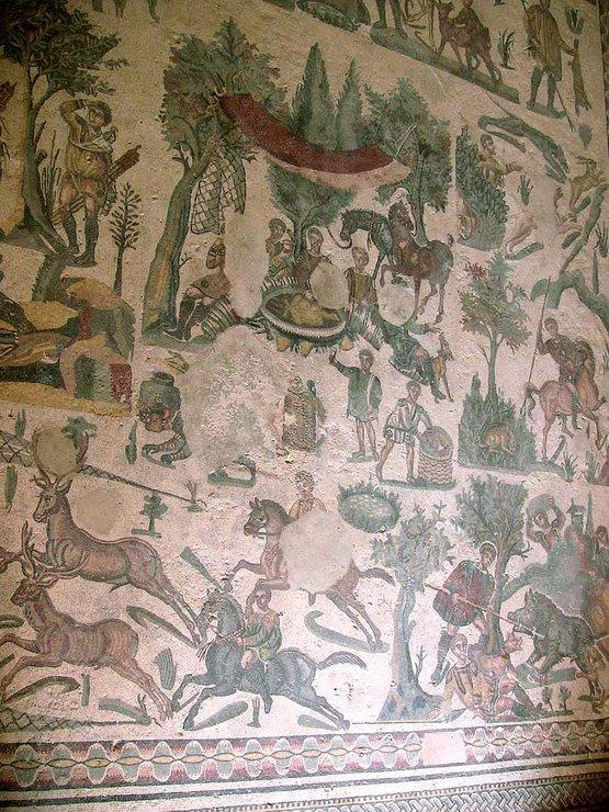 Мозаичная картина а Дель Казале