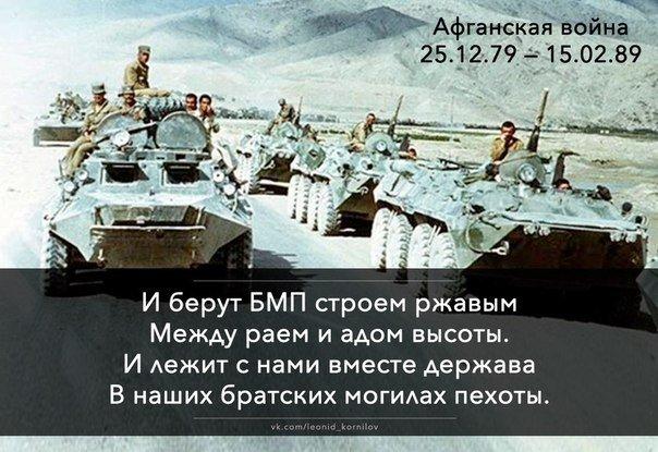 Поздравления для тех кто воевал в афгане