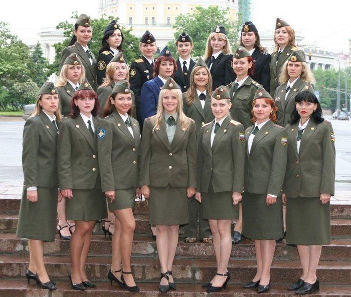 Длина юбки военнослужащей женщины