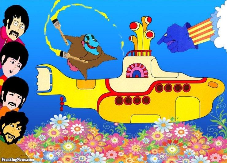 желтая подводная лодка картинки