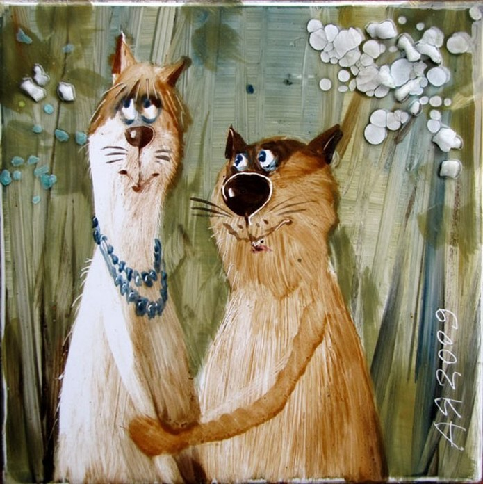 Картинка весна любовь коты