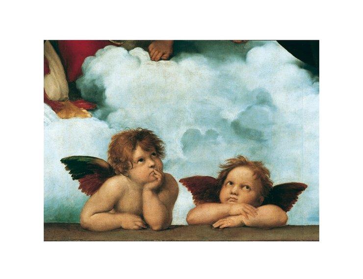 Открытка ангелы сикстинской мадонны, картинки