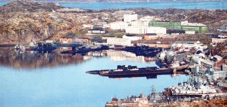 эскадра подводных лодок города полярный