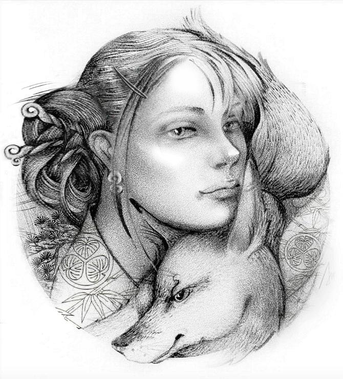 Рисунок лисы из символов