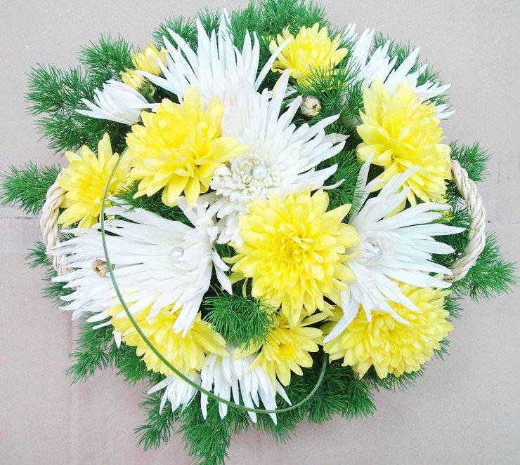 открытка с днем рождения с цветами хризантемы