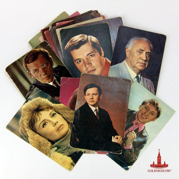 набор открыток с советскими актерами подачей можно заправить