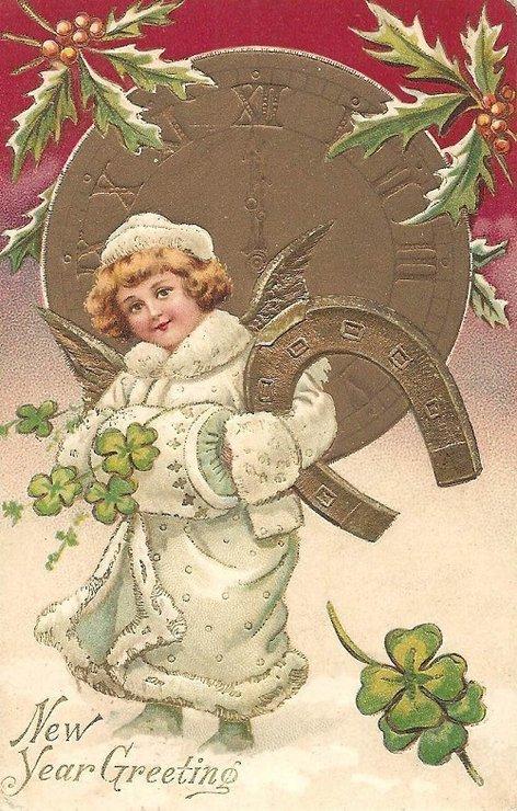 Винтажные новогодняя и рождественская открытка5