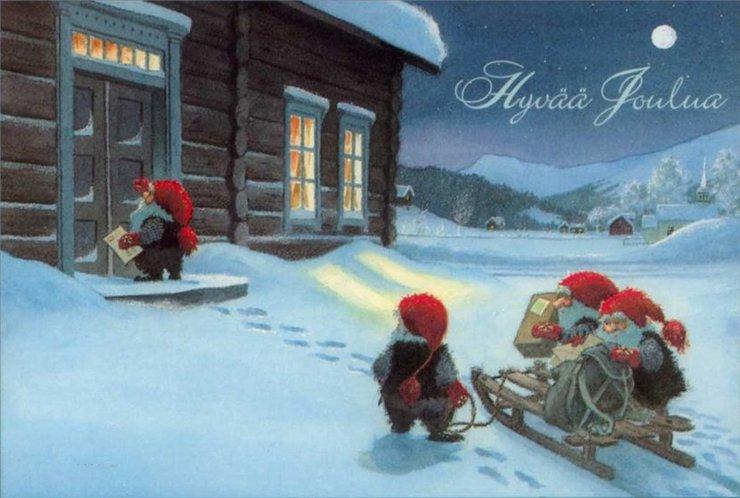 Открытки на финском с новым годом