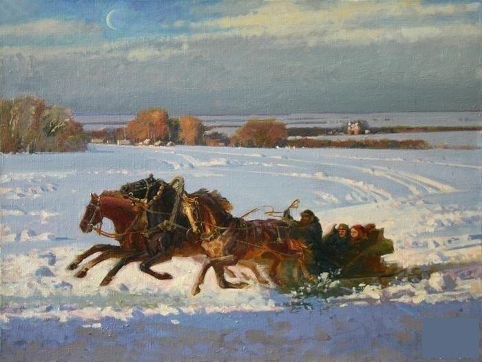 Стих зимняя дорога пушкин картинка