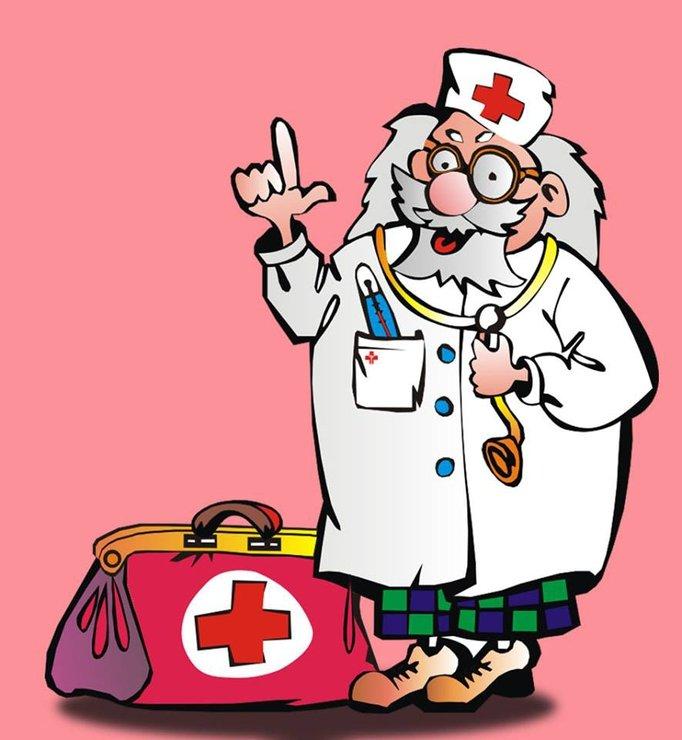 Красный доктор в картинках