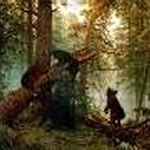 """Схемы вышивки  """"животне природа лес пейзаж медвежата """" - Схемы вышивки по тегам - Портал  """"Вышивка крестом """" ."""