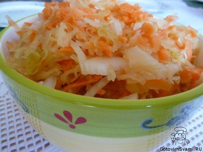Салаты из квашеной капусты рецепты с