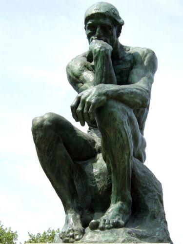 Картинки по запросу скульптура думающий человек