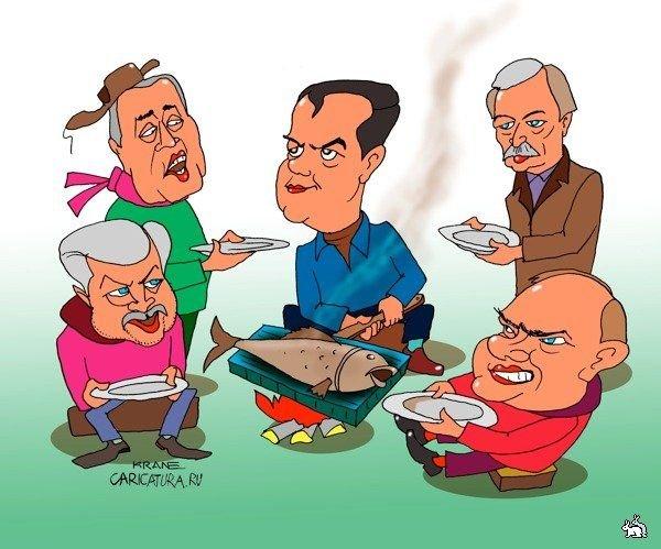 Карикатура на президентов марионеток